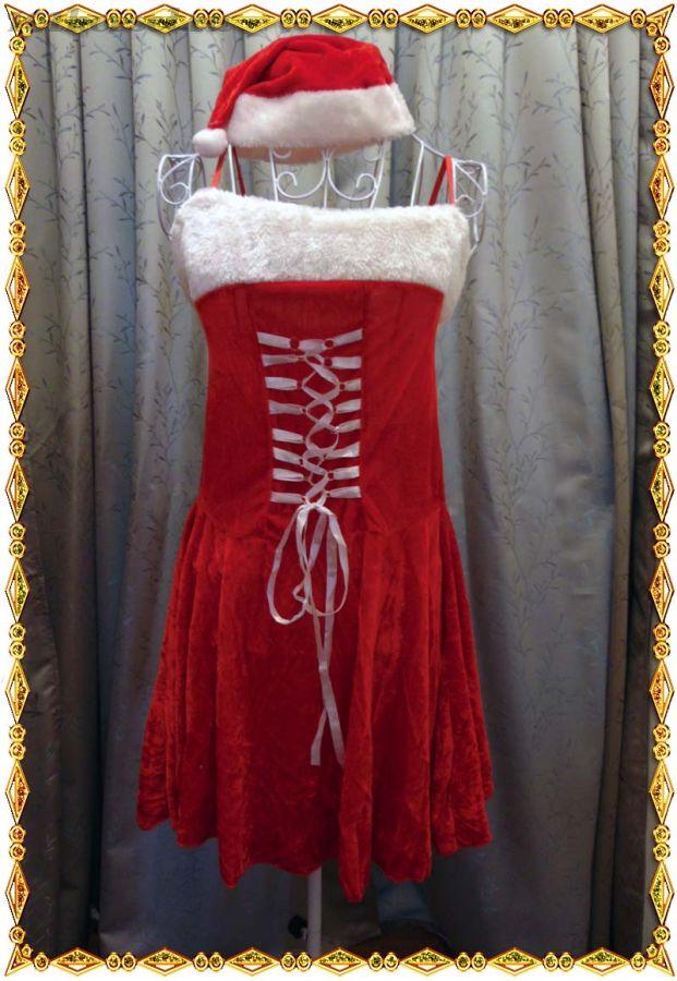 Платье Снегурочки со шнуровкой