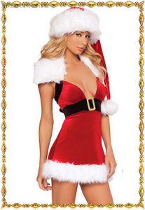 Сексуальное Новогоднее платье с шапкой